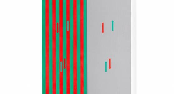 untitled (witness the change #4), 2017 Gesso und Acryl auf Leinwand 245 x 100 cm (96,46 x 39,37 in) (NO 2115) © Nick Oberthaler. Photo: Ulrich Ghezzi Courtesy Galerie Thaddaeus Ropac, London · Paris · Salzburg