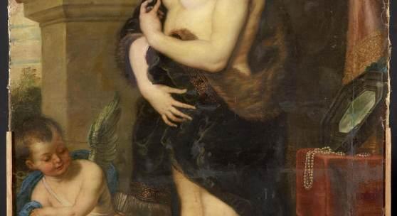 """In die Bildergalerie zurückgekehrt: das um 1640 entstandene Gemälde """"Venus im Pelz"""". Foto: SPSG/Wolfgang Pfauder Datei-Größe: 608 K"""