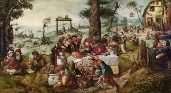 Frans Verbeeck (1510 - 1570) Der Narrenhandel (Satire auf die menschliche Torheit) Öl auf Leinwand, 135 x 188 cm € 900.000 - 1.200.000