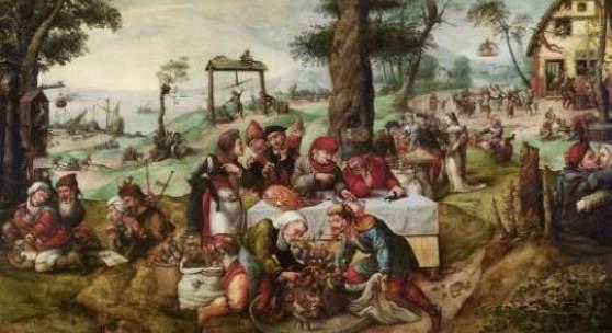 Frans Verbeeck (1510 - 1570) Der Narrenhandel (Satire auf die menschliche Torheit) Öl auf Leinwand, 135 x 188 cm erzielter Preis € 3,035.000