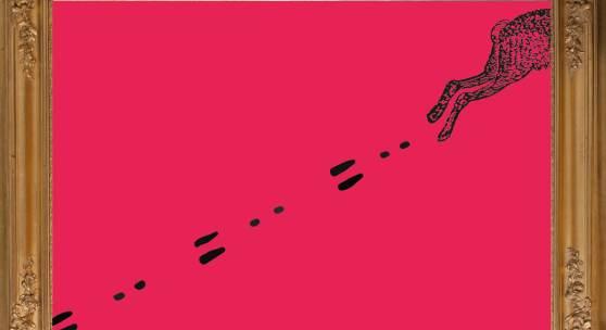 """Thomas Lackner als Leonardo da Vinci und Benjamin Ulbrich als Albrecht Dürer vor der """"Anbetung der Könige"""" von Marx Reichlich im Tiroler Landesmuseum Ferdinandeum Foto: Wolfgang Lackner"""