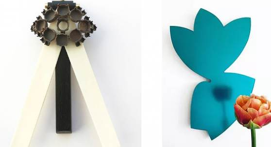L. BEATRIX KAUFMANN, Flügelfliegen, r. Wandobjekt mit Blüte Masako Hamaguchi,Ga