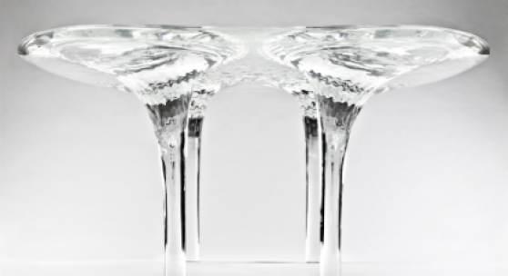 Zaha Hadid, Table 'Liquid Glacial', Acrylic, 300x170x75 cm, 2013