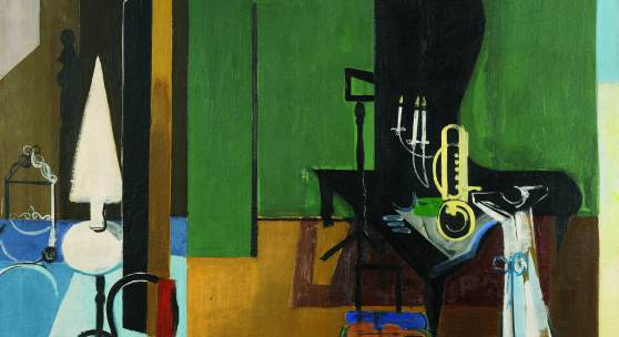 Walter Kurt Wiemken (1907-1940) Zusammenhänge, 1935 Oel auf Leinwand, 106 x 110 cm