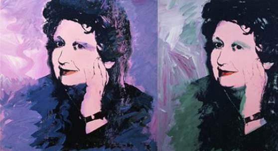 Andy Warhol, Ileana Sonnabend, 1973, diptych.