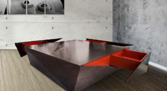 Houdini Table, Fadi Sarieddine, MDF, Walnut, Veneer, Paint, 2012