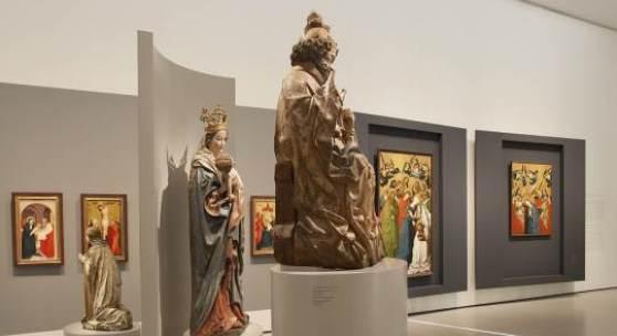 Ausstellungsansicht  WIEN 1450 - Der Meister von Schloss Lichtenstein und seine Zeit  © Belvedere, Wien