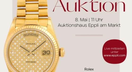 FUNKELNDER MAI- EPPLI Schmuck & Uhren Auktion