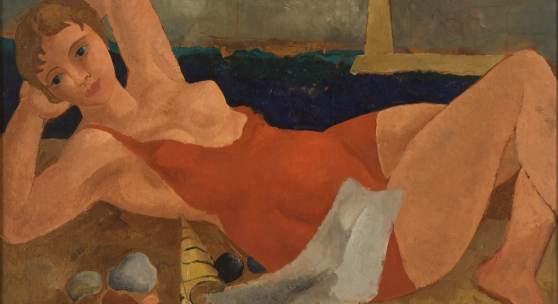 Christopher Wood The Bather Oil on canvas Circa 1925-6 © Jerwood Collection