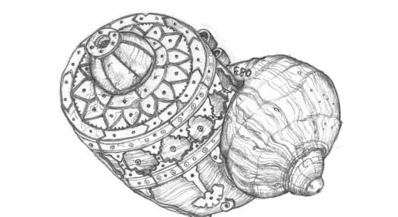 Pulverhorn Zeichnung © Juman Malouf