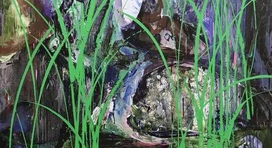 Xu Hongxiang, The green grass, 2018, oil on canvas, 200×160cm © Xu Hongxiang