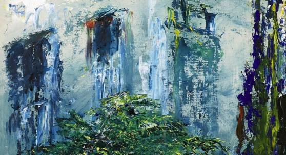 Jack Butler Yeats The Fern in the Area oil on board Painted in 1950 Estimate £20,000-30,000