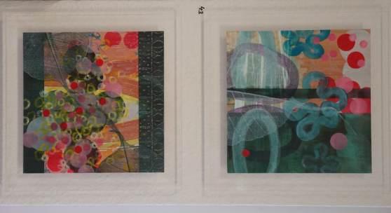 Bild 43 + 44: Yvonne Schneider, o.T., Öl und Tempera auf Acryl; 30&30 cm, 2011. Je 450 €