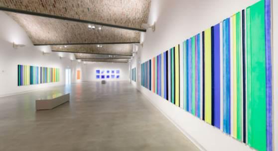Ausstellungsansicht »Hermann Waibel. Bildlicht«, Kunstmuseum Ravensburg, 2018, Foto: Wynrich Zlomke