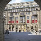 Visualisierung Zugang des neuen Bucerius Kunst Forums vom Alten Wall (Adolphspla