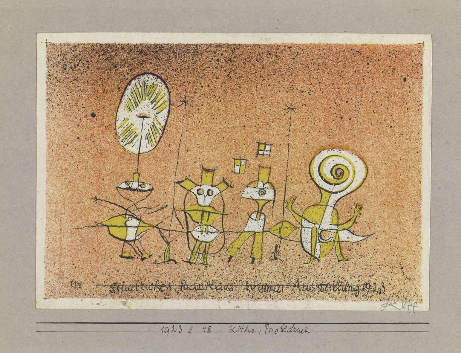 Paul Klee, Postkarte zur Ausstellung Die heitere Seite, 1923,48, Farblithografie, 9,9 x 14,4 cm, E.W.K., Bern © VG Bild-Kunst, Bonn 2010