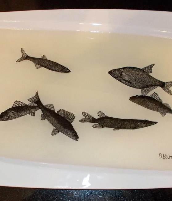 Fischwelt 2016 (Teller) - verkauft