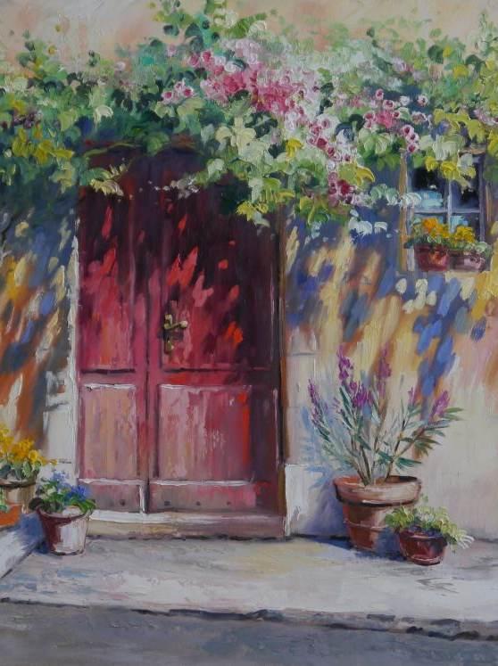 Rote Tür in Apt