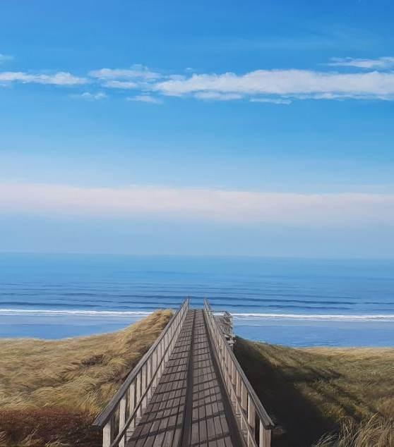 An diesem Morgen gehe ich zum Meer