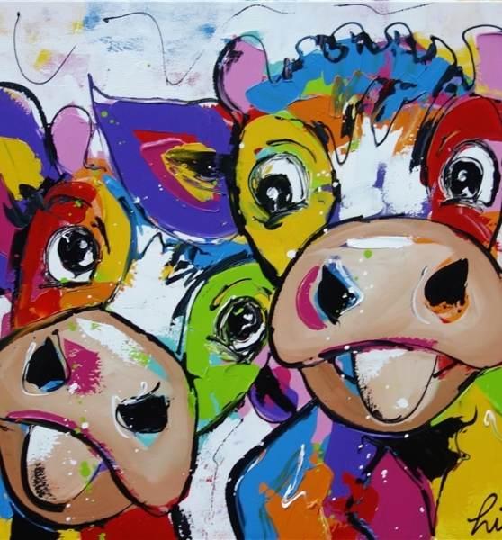 Lustige Kühe