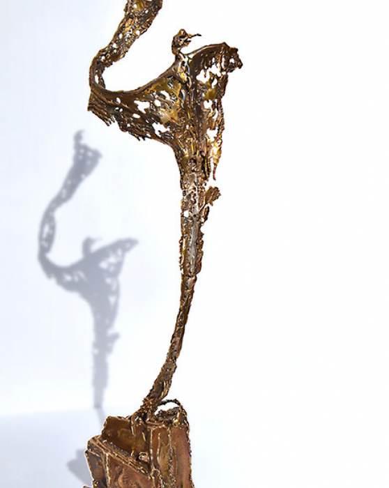 """""""Mit Schwung"""", Metallkunst-Figur"""