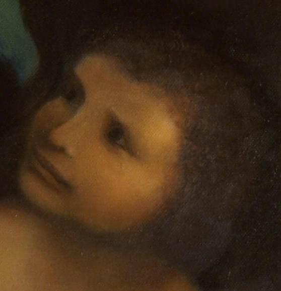 Jesuskind (Detail einer Kopie der Anna Selbdritt)