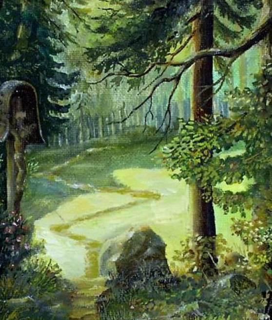 Kruzifix am Waldpfad