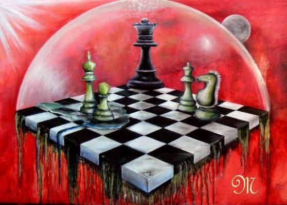 Das königliche Spiel Ölgemälde von Mattiesson