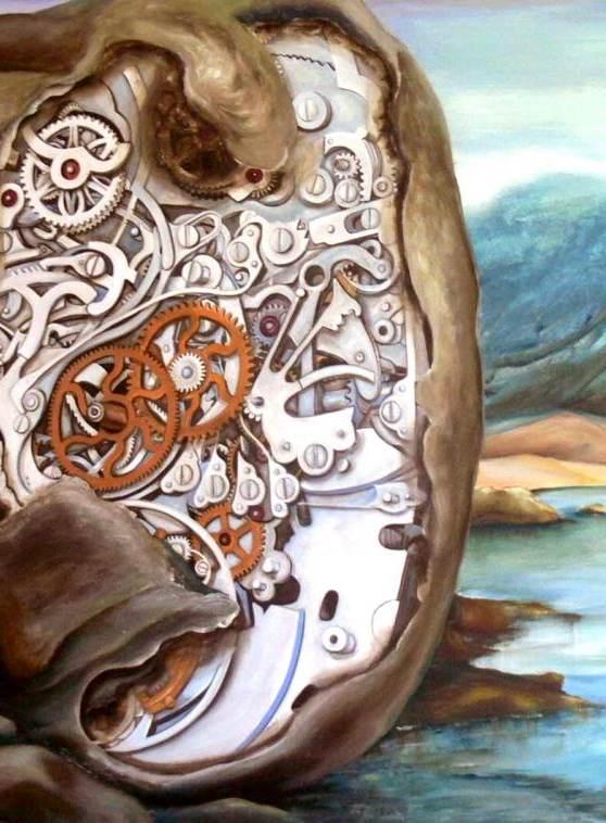 Du Bist die Zeit von Großformat Gemälde von Mattiesson