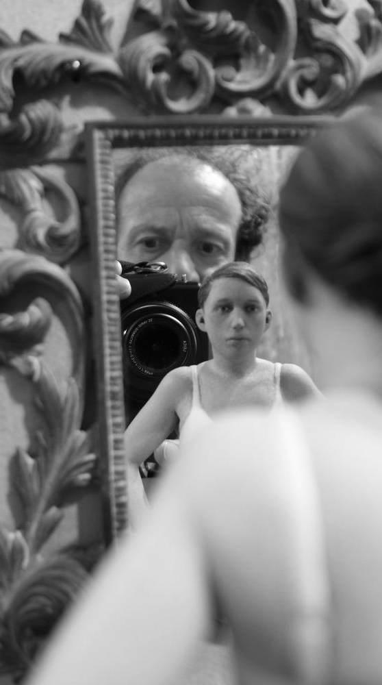 Selbstporträt: auf einer Ausstellung