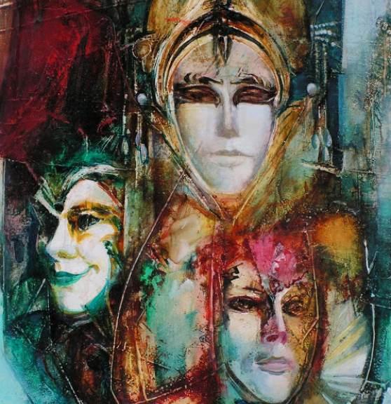 Masken. Ausschnitt