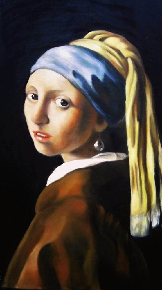 Das Mädchen mit dem Perlenohrring nach Jan Vermeer