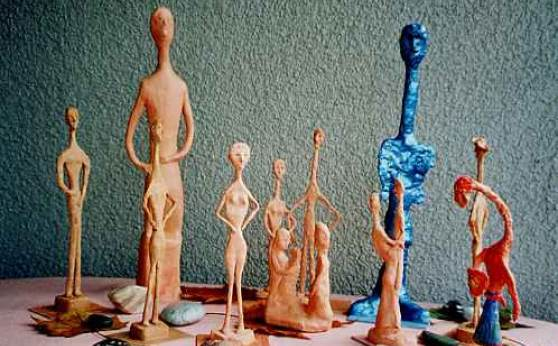Skulpturen Gruppe