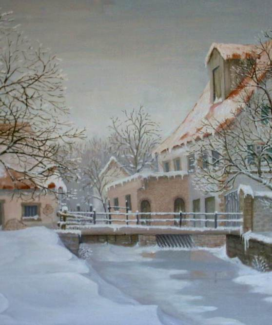 Mühle im Winter