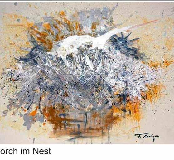 Storch im Nest