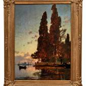 Hermann Corrodi: Insel vor Venedig im Abendlicht