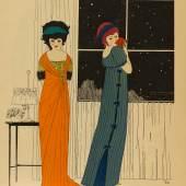 / Paul Iribe, Illustration aus Les Robes du Paul Poiret, 1908, Pochoir über Strichätzung © MKG Hamburg