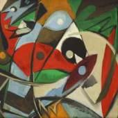 Ernst Wilhelm Nay, Silence, 1948  Öl auf Leinwand, 60 x 70 cm, Signiert und datiert.