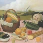 Fernando Botero Picknick, 1989 Öl/Leinwand, 132 x 175 cm Privatbesitz