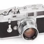 002 Leica M3 Prototyp Extrem seltener M3 Prototyp (Vorserie, 1952/53 als Testkamera hergestellt). Seriennummer: 0040 Schätzpreis: EUR 300.000–400.000