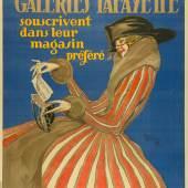 / Jean-Gabriel Domerque, Die Kunden der Galeries Lafayette zeichnen Staatsanleihen im Kaufhaus ihrer Wahl, Plakat, 1919, Lithografie © MKG Hamburg / VG Bild-Kunst, Bonn 2020