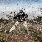 NOMINEE WORLD PRESS PHOTO OF THE YEAR & NATURE, STORIES, 3rd Prize Title: Fighting Locust Invasion in East Africa © Luis Tato, Spain, for The Washington Post