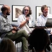Simon Weber-Unger, Monika Faber und Peter Coeln bei der Podiumsdiskussion Foto: Patricia Riener