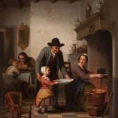 Basile de Loose, Beim Zubereiten der Waffeln, 1853, Sammlung Rademakers