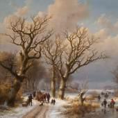 Johann Bernhard Klombeck und Eugène Verboeckhoven, Winterlandschaft mit Pferd, 1863, Sammlung Rademakers