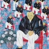 Arpita Singh MEN SITTING, MEN STANDING Estimate  1,20,00,000 — 1,80,00,000  INR  LOT SOLD.1,87,50,000 INR