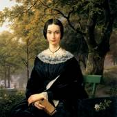 B.C. Koekkoek, Porträt einer Dame (Mona Lisa von Kleve), um 1846