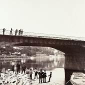 Édouard Baldus Pont de la Mulatière, Lyon Albuminabzug, aus dem Album: Chemins de fer de Paris à Lyon et à la Méditerranée, 1861–1863