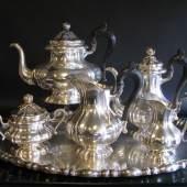 7000 - Kaffee- & Teeservice, Österreich, um 1850, Silber.
