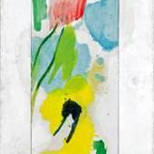 """Wolfgang Hollegha: """"Entwurf für die Friedenskirche Hiroshima"""" € 10.000,- und € 18.000,-. Das Gemälde erzielte einen Verkaufspreis von € 25.000,-. Fotocredit: Auktionshaus im Kinsky"""
